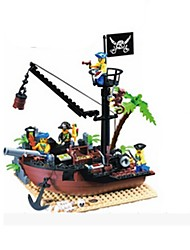 Building Blocks Toys Ship Pirate Pieces Gift