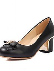 Недорогие -Для женщин Обувь на каблуках Удобная обувь Оригинальная обувь Весна Осень Дерматин Полиуретан Для праздника Для вечеринки / ужина Стразы