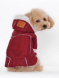 economico -Cane Cappottini Abbigliamento per cani Tinta unita Fucsia Marrone Pelliccia finta Costume Per animali domestici Da serata Casual Tenere