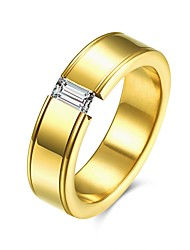 cheap -2017 Fashion Luxury Simple Classic Titanium Steel Band Rings Jewelry For Man