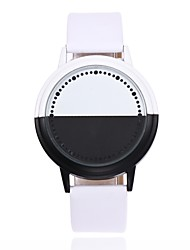 cheap -Men's Wrist Watch Chinese Creative / LED Leather Band Casual / Fashion / Unique Creative Watch Black / White