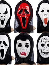 Maschere di Halloween Accessori Halloween Maschera teschio Maschera dipinta a mano Giocattoli Fantasma Plastica Tema Horror Pezzi N/D Per