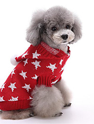 cheap -Dog Sweater / Hoodie Dog Clothes Stars Red / Blue Cotton Costume For Pets Men's / Women's Halloween / Christmas