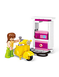 cheap -Pretend Play Building Blocks Block Minifigures Toys Castle Motorcycle House Animals Plastics Girls' Pieces