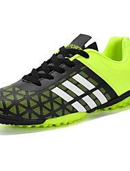 Men's Athletic Shoes Light Soles Spring Fall PU Soccer Shoes Athletic Casual Lace-up Flat Heel Ruby Green Blue Flat