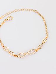 abordables -Femme Forme de Noeud Chaînes & Bracelets Bracelets de tennis - Mode Forme de Noeud Or Argent Bracelet Pour Anniversaire Cadeau