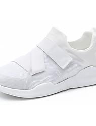 Femme Chaussures d'Athlétisme Confort Polyuréthane Printemps Automne Athlétique La boucle du crochet Talon Plat Blanc Noir Plat