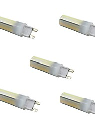 5 pcs g9 5.5 w led bi-pin lumières 136 smd 3014 450lm chaud / cool / naturel blanc couleur décoratif dimmable ac110 / 220v