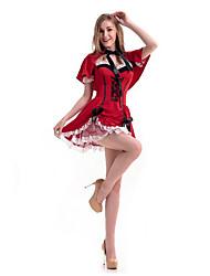 Princesse Conte de Fée Cosplay Costumes de Cosplay Bal Masqué Féminin Halloween Carnaval Fête / Célébration Déguisement d'Halloween Rouge
