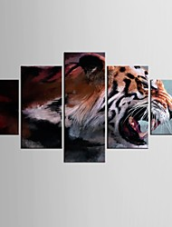 cheap -Stretched Canvas Print Five Panels Canvas Any Shape Print Wall Decor For Home Decoration