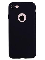 Недорогие -Кейс для Назначение Apple iPhone 7 / iPhone 7 Plus Матовое Кейс на заднюю панель Однотонный Мягкий ТПУ для iPhone 7 Plus / iPhone 7 / iPhone 6s Plus