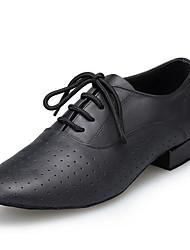 "cheap -Men's Latin Real Leather Heel Professional Chunky Heel Black Under 1"" Customizable"