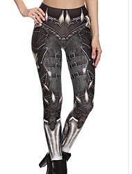 cheap -Women's Sporty Legging - Geometric, Print Mid Waist / Skinny