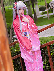 Недорогие -Вдохновлен Косплей Косплей Аниме Косплэй костюмы Косплей Костюмы другое Пояс Головные уборы кимоно Пальто Назначение Жен.