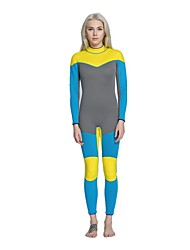 Women's 3mm Full Wetsuit Anatomic Design Sunscreen Close Body Chinlon Diving Suit Long Sleeves Diving Suits-Diving Surfing/SUP All Seasons