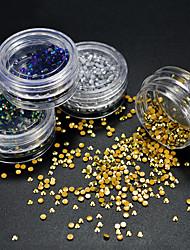 cheap -4 Bottles/Set 2mm Nail Art Beauty Luxury Rhinestone Decoration Resin Jelly Rhinestone Gorgeous Glitter Nail Art DIY Shining Jewelry Rhinestone