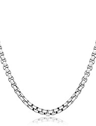 cheap -Men's Women's Geometric Luxury Classic Natural Chrismas Elegant Choker Necklace Jewelry Sterling Silver Choker Necklace , Christmas Party