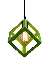 cheap -1-Head Vintage Metal Cage Shade Pendant Lights Country Style Mini Chandelier For Bars Kitchen Dining Room Light Fixture