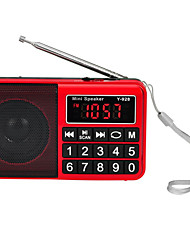 abordables -Y-928 Radio portatil Reproductor MP3 Tarjeta TFWorld ReceiverNegro Rojo Azul