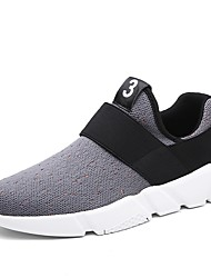 cheap -Men's Athletic Shoes Comfort Spring Fall Knit Walking Shoes Casual Gore Flat Heel Black Gray Ruby 2in-2 3/4in