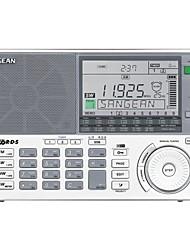 baratos -ATS-909X FM Rádio portátil Radio FM / Alto Falante Embutido / Relogio Despertador Receptor do mundo Branco