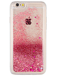 billige -Tilfældet til Apple iPhone 7 plus iPhone 7 cover flydende væske bagside cover glitter shine hard pc til iPhone 6s plus iphone 6 plus