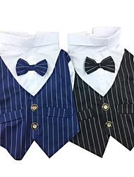 preiswerte -Hund T-shirt Hundekleidung Stilvoll Streifen Schwarz Blau Kostüm Für Haustiere