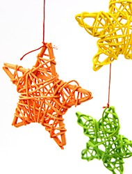 cheap -10Pcs/Pack 6Cm Lovely Rattan Star  / Birthday / Wedding Party Decorations Diy Ornaments Rattan Ball Kids Toys