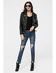 Women's New Arrival EuropeStyle Slim Casual/Work Long Sleeve Jackets , Medium