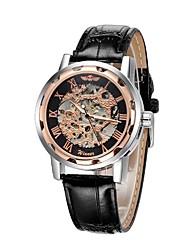 abordables -Hombre Cuarzo Reloj de Pulsera Gran venta Cuero Auténtico Banda Casual Moda Negro