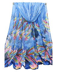 Women's Voile Fashion Cute Floral Fall Winter Scarf 180*90CM