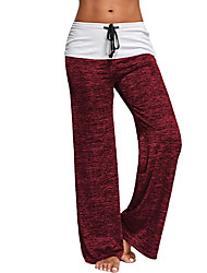 cheap -Women's Mid Rise Stretchy Straight Loose Sweatpants Pants, Casual Active Street chic Color Block Polyester Spring Fall