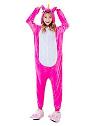 cheap -Kigurumi Pajamas Horse Unicorn Onesie Pajamas Costume Flannelette Cosplay For Adults' Animal Sleepwear Cartoon Halloween Festival /