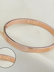 cheap -Small square titanium bracelet rose gold bracelet Korea fashion accessories