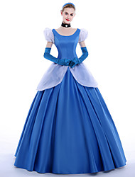 cheap -Princess Cinderella Queen Cosplay Costume Party Costume Masquerade Movie Cosplay Dress Gloves Petticoat Headband Christmas Halloween