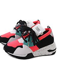 Da donna scarpe da ginnastica Scarpe formali PU (Poliuretano) Autunno Sportivo Casual Footing Lacci Basso Bianco Nero 5 - 7 cm