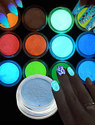 cheap -12pcs/set Acrylic Powder / Nail Glitter / Glitter Powder Elegant & Luxurious / Nail Glitter / Luminous Nail Art Design