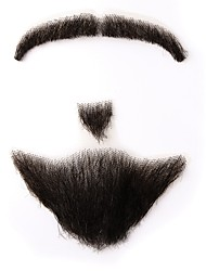preiswerte -Neitsi gefälschte Bart Mann Schnurrbart 100% Menschenhaar handgemachte Mode Zubehör Make-up verkleiden Requisiten