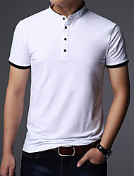 cheap -Men's Cotton T-shirt - Solid Stand