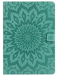 Недорогие -Кейс для Назначение SSamsung Galaxy / Вкладка 8,0 / Вкладка 9,7 Tab E 9.6 / Tab A 7.0 / Tab A 10.1 (2016) Кошелек / Бумажник для карт / со стендом Чехол Мандала Твердый Кожа PU