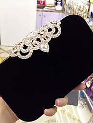 cheap -Women's Bags Velvet Evening Bag Rhinestone for Wedding Event/Party Formal All Seasons Black Red Purple Fuchsia Wine