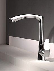 cheap -Contemporary Modern Style Centerset High Quality Ceramic Valve Chrome, Kitchen faucet
