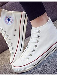 cheap -Women's Shoes Canvas Spring Fall Comfort Sneakers For Casual White Black Red Blue