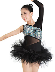 cheap -Ballet Leotards Outfits Headpieces Tutus & Skirts Women's Performance Spandex Lace Tulle Lycra Lace Paillette Ruffles Sleeveless Natural