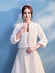 abordables -vestido de novia de piel sintética / abrigo de mujer de noche encoge estilo elegante