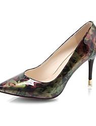 Women's Heels Light Soles PU Summer Dress Stiletto Heel Blue Ruby 2in-2 3/4in