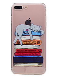 Per iPhone X iPhone 8 Custodie cover Transparente Fantasia/disegno Custodia posteriore Custodia Gatto Morbido TPU per Apple iPhone X
