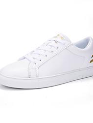 economico -Da donna Sneakers Comoda Suole leggere Finta pelle Primavera Autunno Casual Footing Lacci Plateau Oro Nero 7,5 - 9,5 cm