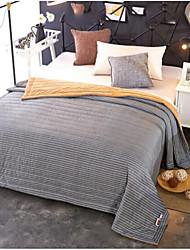 Недорогие -Фланель Сплошной цвет Хлопчатобумажная ткань одеяла