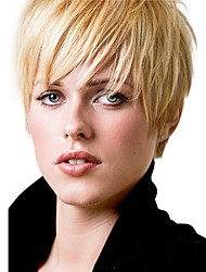 cheap -Fluffy New Cool  Short Straight Human Hair Wigs For Women